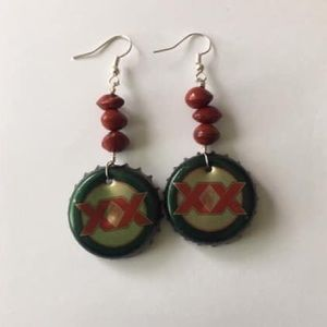 XX Bottle Caps Earrings